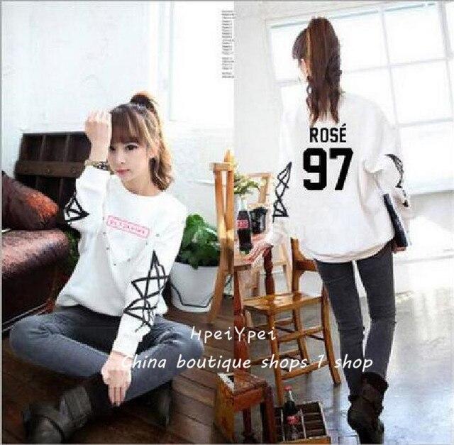 hpeiypei Blackpink combination clothes album with new round collar fleece han edition