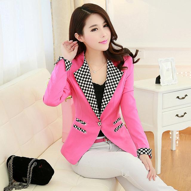 women blazers 2016 spring and autumn women's fashion slim suit jacket outerwear long-sleeve female blazers