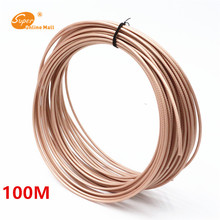 50M 164ft RG316 RG-316 cable Wires RF coaxial Cable 50 Ohm for Connector Shielded Cable White color areyourshop sale 5000cm rg405 rf coaxial cable connector flexible rg 405 coax pigtail 164ft plug ja