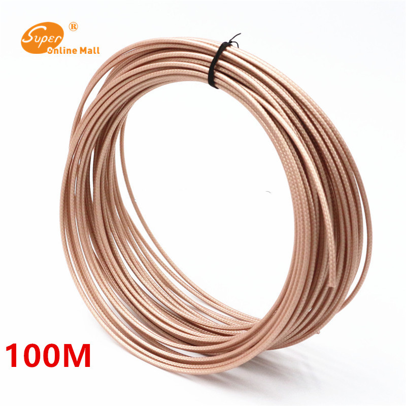 100meters/lot 328ft RG316 RG-316 cable Wires RF coaxial Cable 50 Ohm for Connector Shielded Cable
