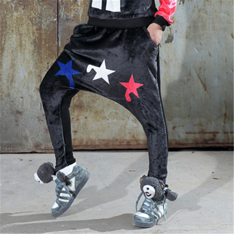 just.be.never lady hip hop style harem pants plus size clothes woman pants  casual dance costumes warm winter pants star printed-in Pants   Capris from  ... 2c145f9a6a8c