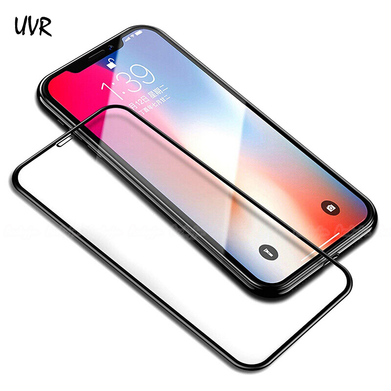 5D Glass For iPhone XS MAX X XR 4D Cold Carving 3D Full Coverage Tempered Glass Screen Protector For Apple iPhone 8 7 6S 6 Plus image