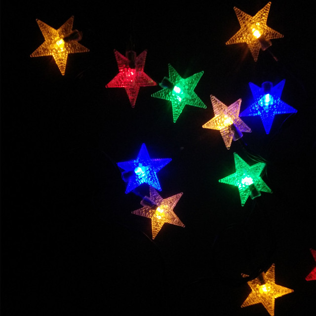 yiyang led outdoor garden christmas lights star light for holiday xmas party new year decoration luces