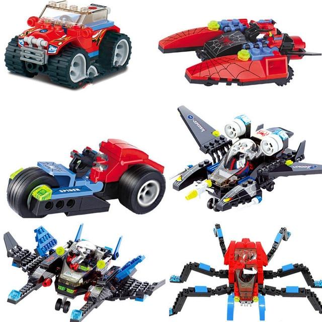 Super Heróis Figuras Spiderman Modelo Lutador Modelo de Construção Da Cidade Blocos Define Bricks DIY Brinquedos Educativos para Crianças