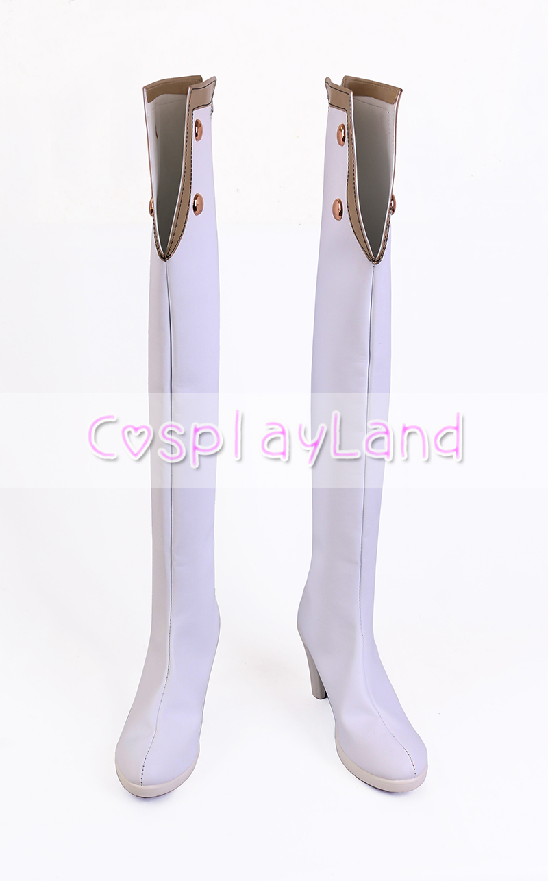 Fate Grand Order FGO Scathach White Cosplay Boots Shoes for Adult Women High Heel Shoes Costume Accessories Custom Made