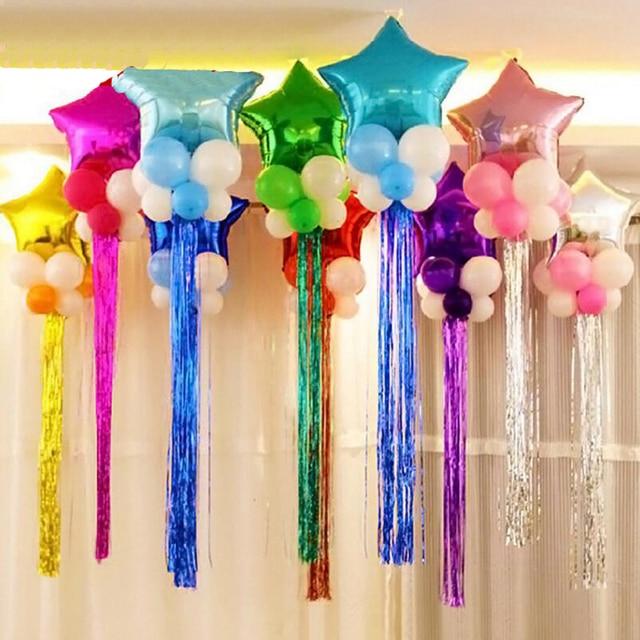 unidslote globo lluvia serpentinas cinta color decoracin fiesta de cumpleaos de compromiso de
