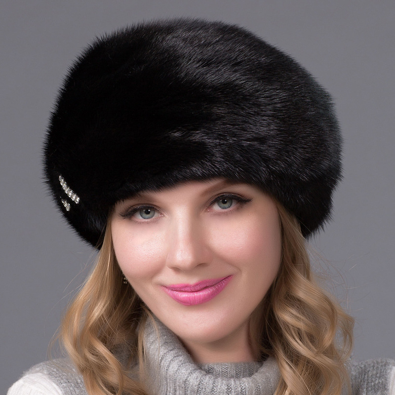 womens Winter thicken mink fur hat fashion warm cap knitted beanies caps 2017 new winter fashion women down jacket hooded thick super warm medium long female coat long sleeve slim big yards parkas nz18