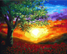 "DIY Painting By Number – Sunset (16""x20"" / 40x50cm)"