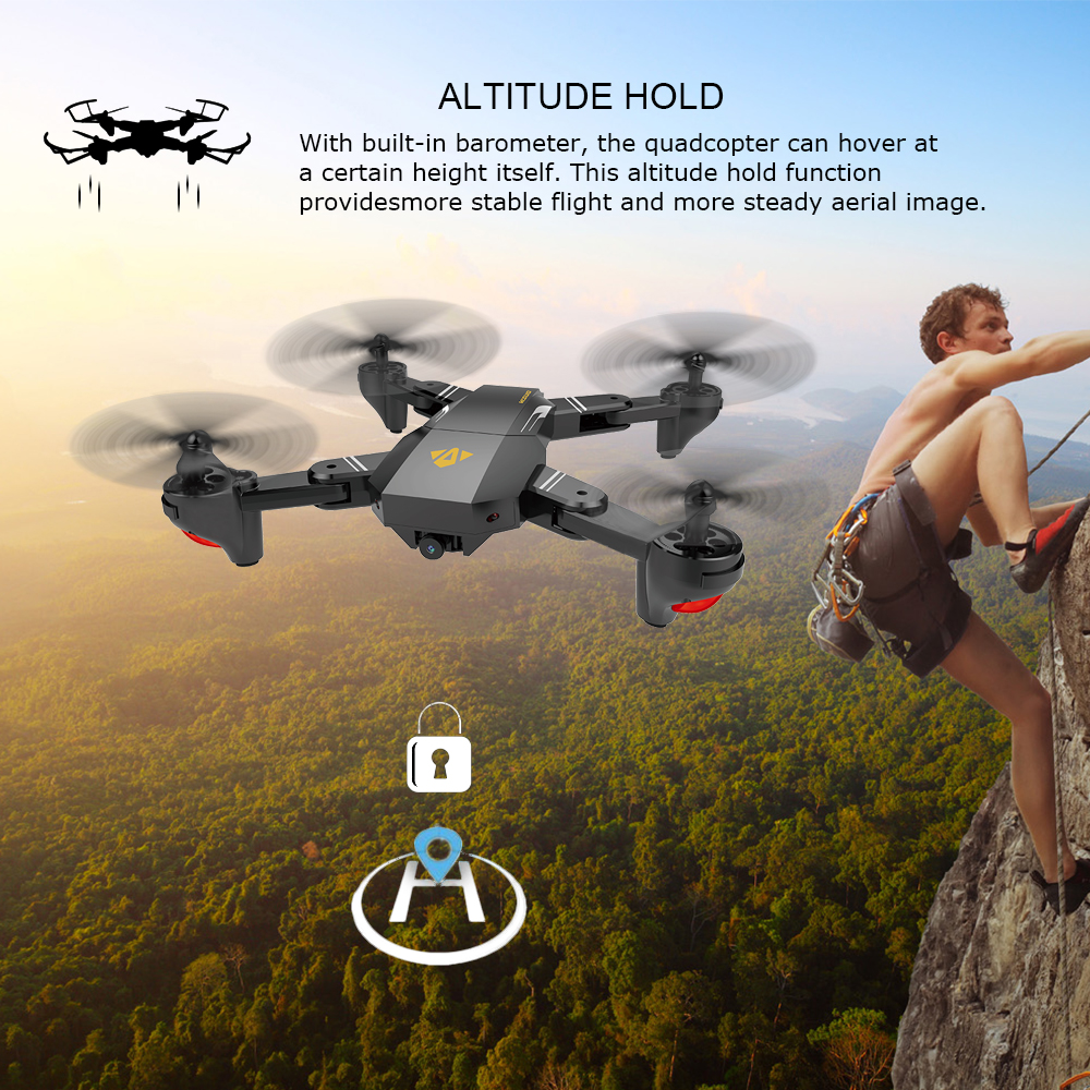US in Stock for VISUO XS809HW Wifi FPV 2.0MP 720P 120 FOV Wide Angle Camera Drone Selfie Foldable RC Drone Quadcopter RTF Dron (10)