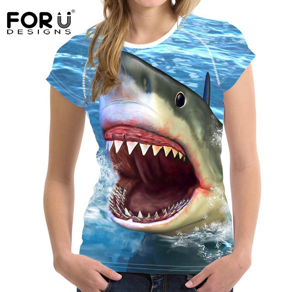 FORUDESIGNS Ամառային կանանց շապիկ Sea World - Կանացի հագուստ - Լուսանկար 4