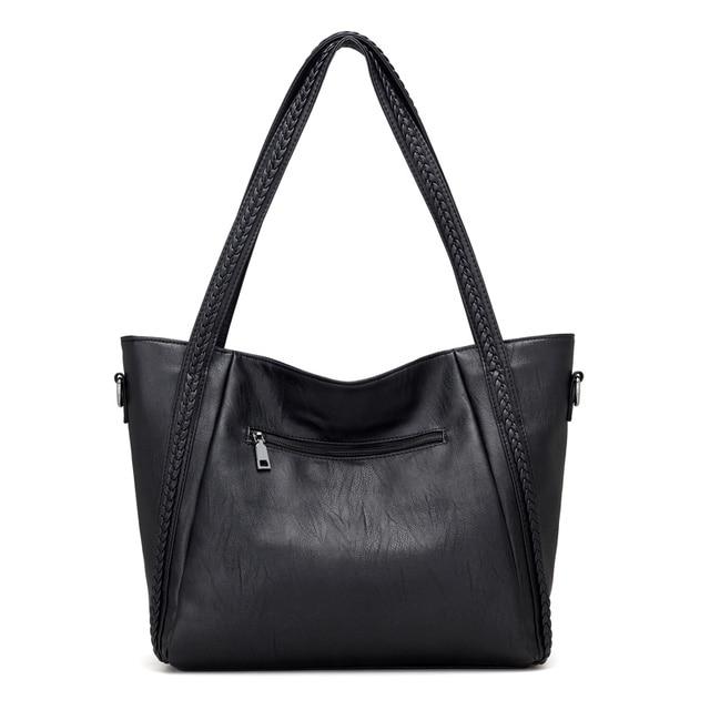 Soft Leather Large Shoulder Bag 4