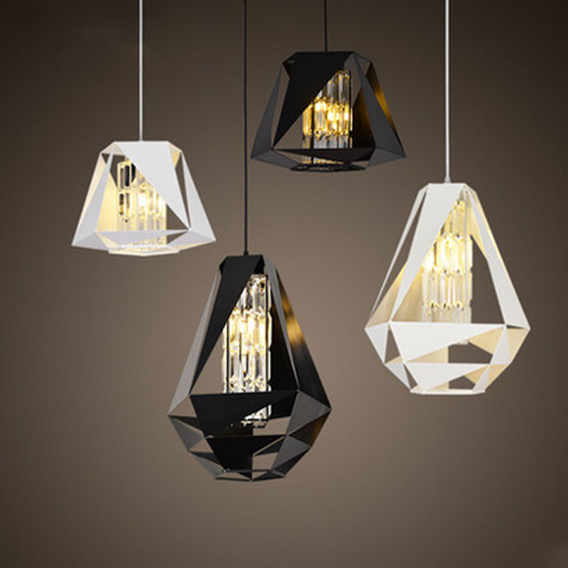 New Simple Crystal Pendant Light LED Bulbs Modern Northern Europe Creative Lamps For Restaurant Home Fashion DHL Free