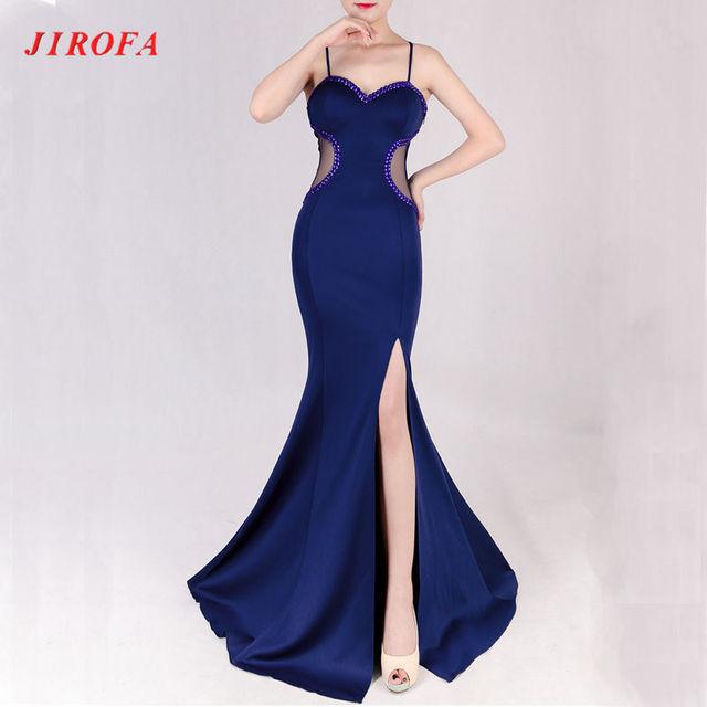 Dark Blue Trumpet Dresses