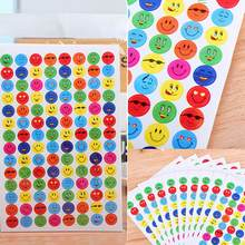1120Pcs Reward Smile Love Heart School Teacher Merit Praise Stickers Children DIY Face Sticky Paper Lable Classic Toys For Kids(China)