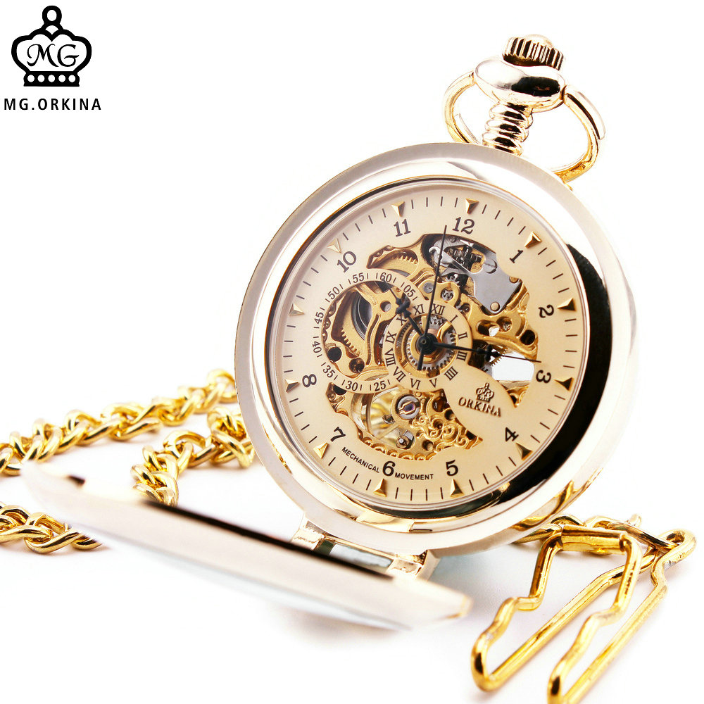 Antique Steampunk Skeleton Male Clock Transparent Mechanical Pocket Watch with Pendant Chain for for Men Women Children +BOX luxury antique skeleton cooper mechanical automatic pocket watch men women chic gift with chain relogio de bolso