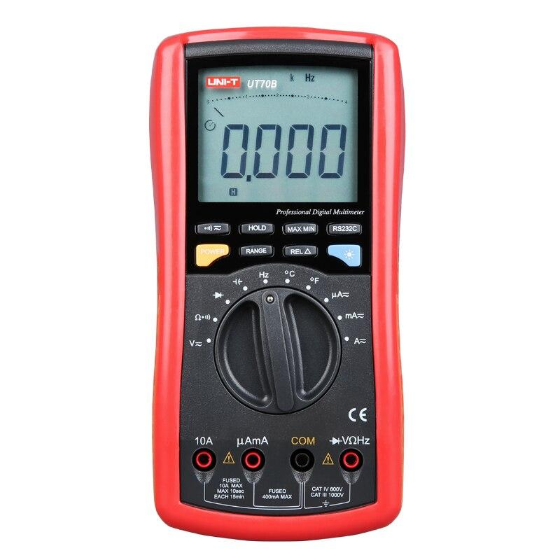 UNI-T UT70B condutância LCD Multímetro Digital Auto Faixa de freqüência de teste de lógica transistor temperatura display analógico