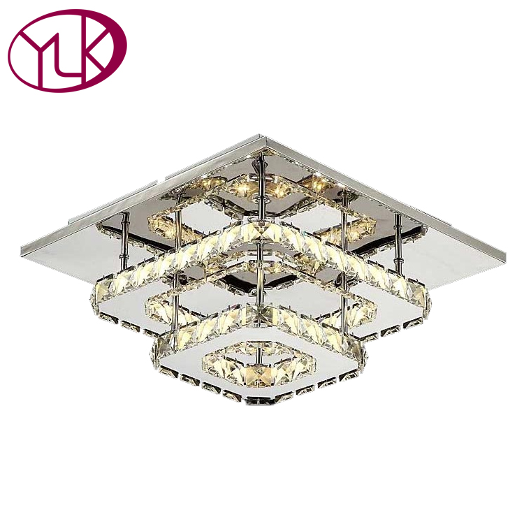 Фото Luxury Crystal LED Ceiling Lamp Hallway Ceiling Light Fixture Home Decoration Lustre Cristal Lights LED Corridor Lighting