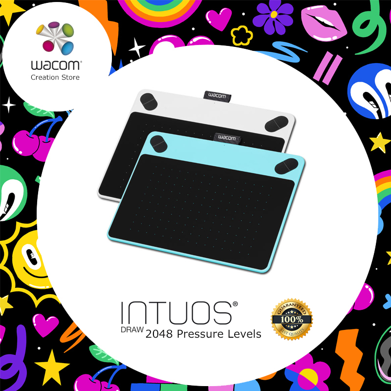 Wacom Intuos dessiner CTL-490 tablettes numériques tablette de dessin graphique 2048 niveaux de pression + paquets cadeaux + 1 an de garantie