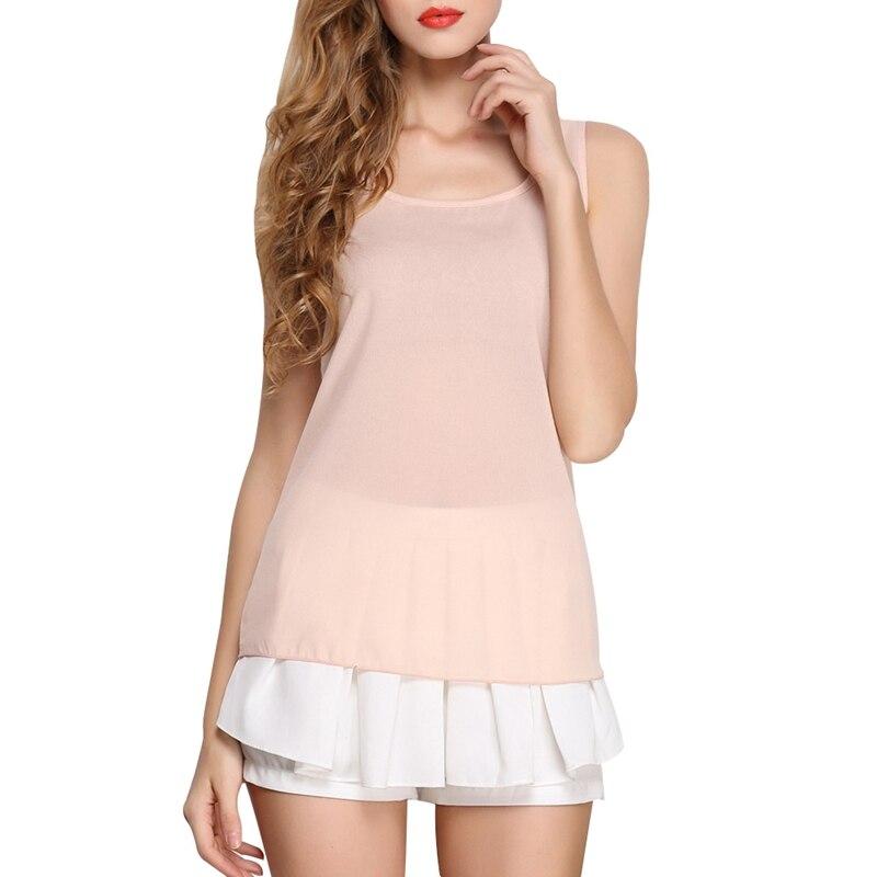 LIVAGIRL Hot Sale Slim Women Tank Tops Casual Thin Light Basic Style Women T-Shirt Sleeveless Chiffon Vest Ladies Clothing