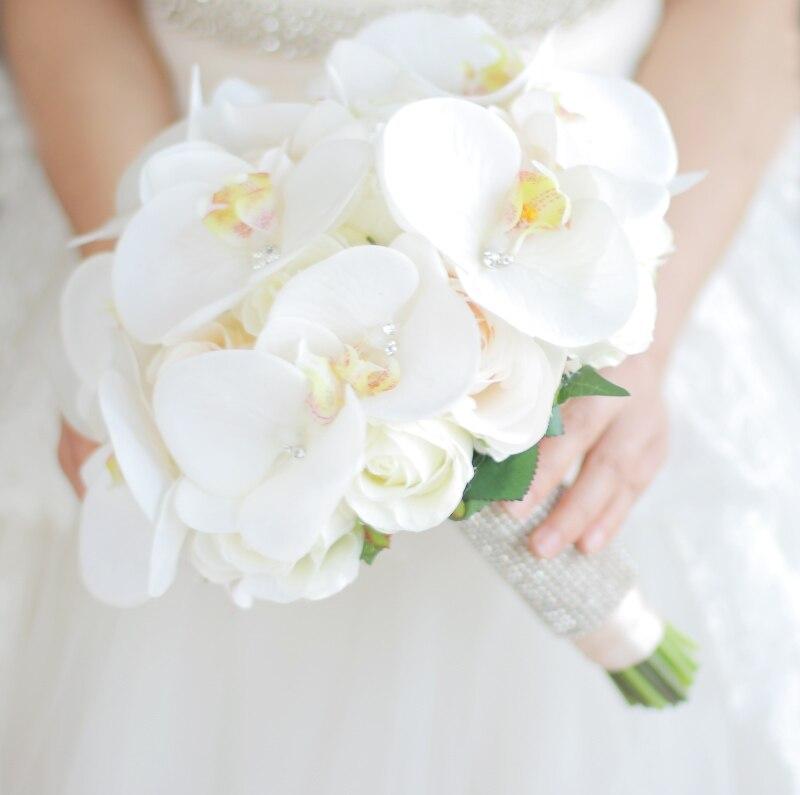 JaneVini Bouquet de Boda Occidental para Novias Flores Artificiales - Accesorios de boda - foto 2