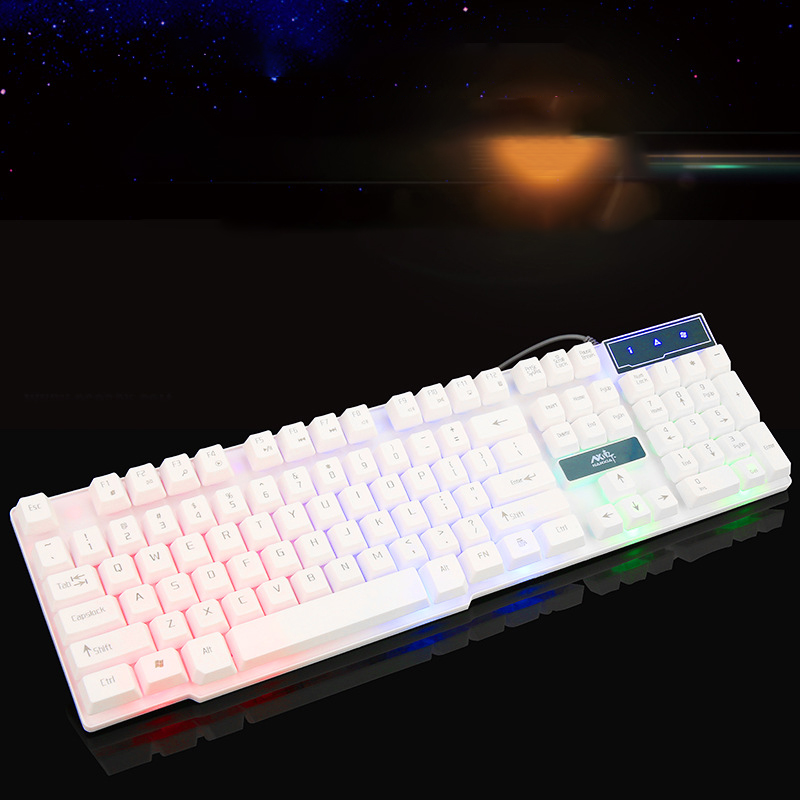 water resist colorful led wired keyboard suspended keycap computer accessories gaming keyboard. Black Bedroom Furniture Sets. Home Design Ideas