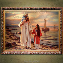 Home Decor Jesus Christ Painting the Portrait of Jesus Art Decor Painting Print Giclee Art Print On Canvas Ready to Frame 48(China)