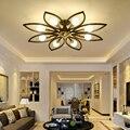 3 /6/8 головок  потолочная лампа для спальни  теплая романтическая светодиодная Современная креативная лампа для гостиной  белый черный цвето...