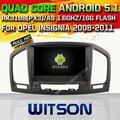 Witson android 5.1 coche dvd gps audio estéreo del coche para opel INSIGNIA dvd de radio de la pantalla táctil Capacitiva de La Corteza A9 Qual-core 16 GB Rom