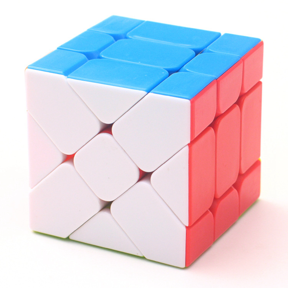 BabeLeMi Stickerless Colorful 3x3x3 Skew Fisher Speed Magic Cube Puzzle Game Cubes Educational Toys For Children Kids