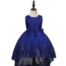 2017 Filles robe paillettes graduation robes enfants fleur de soirée de mariage robe enfants de demoiselle d'honneur robe de festa infantil