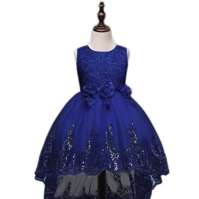 2017 Девушки одеваются блестками выпускные платья платье для девочек детей цветок вечер свадебное платье дети невесты vestido де феста infantil детские платья