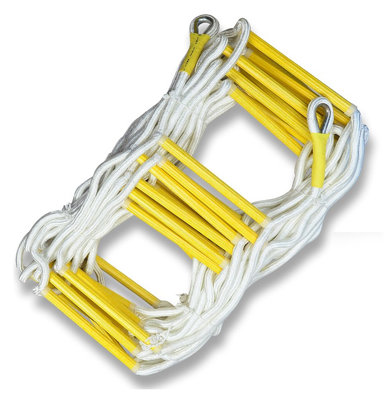 10M Folding Fire Escape Rope Ladder 33FT Work Safety Emergency Fire Rescue Folding Ladder Rock Climbing Escape Ladder
