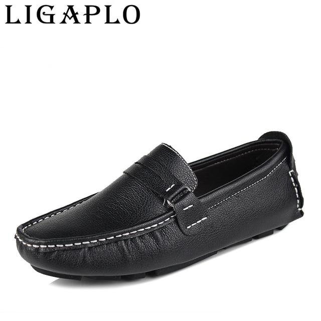 2015 лучшее качество плоские повседневные мужские туфли из натуральной кожи, мягкие мокасины, комфортные кроссовки для вождения бесплатная доставка