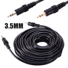 New 1pc 1.5/3/5/10M High Purity Oxygen-free Copper Wire 3.5mm Male to Audio Stereo Aux Cable Cord Lead PC MP3 DVD
