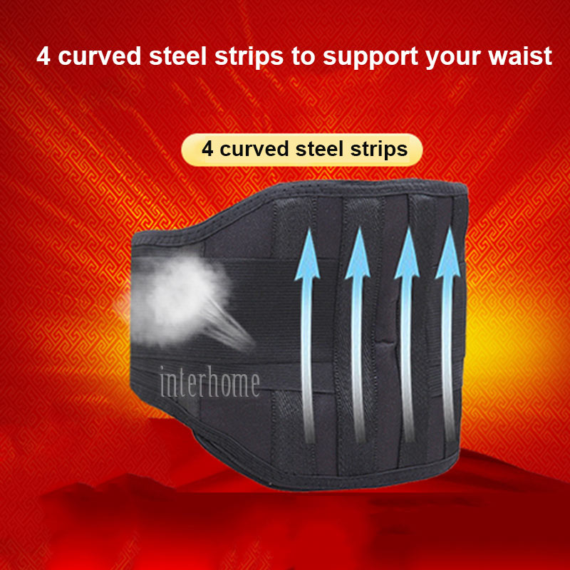 High Quality Tourmaline Self-Heating Waist Support Belt Lumar Brace Health Far Infrared Magnetic Therapy Detachable Heating Pads