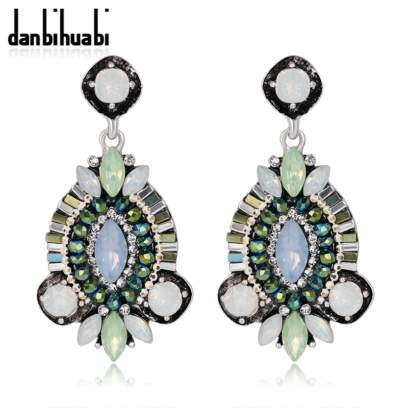 danbihuabi 2017 New Fashion Statement Long Costume Jewelery Pendant Earring Hanging Women Bohemian Boho Big Earrings