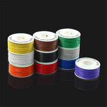 250 m/lots 10 Colors 30 AWG Wrapping Wire  Single Strand Copper Cable Ok Wire Electrical Wire for Laptop Motherboard PCB Solder 50pcs lots 0 1mm pcb solder cable 5 8 10 15 20 fly jumper wire cable tin conductor wires color choose 7 strands pure copper