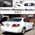 3 in1 Especial Cámara de Visión Trasera + Receptor Inalámbrico + Espejo Monitor de Copia de seguridad de Sistema de Aparcamiento Para Lexus ES300 ES330 XV30 2002 ~ 2006