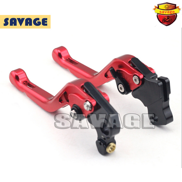 ФОТО For DUCATI MONSTER 821 HYPERMOTARD 821 / Strada 14-15 Red Motorcycle Accessories CNC Aluminum Short Brake Clutch Levers
