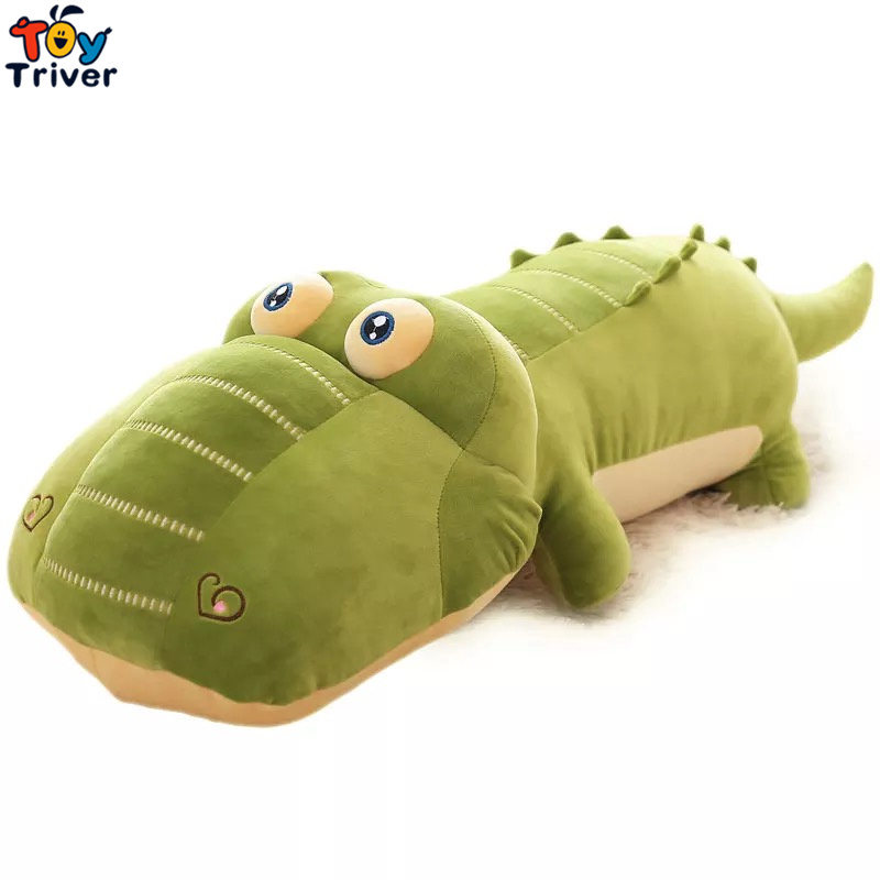 Creative Cartoon Simulation Green Crocodile Plush Stuffed Doll Toys Long Pillow Cushion KidS Baby Boy Birthday Gift Triver Toy big lovely simulation cow plush toy creative stuffed cow doll birthday gift about 75cm