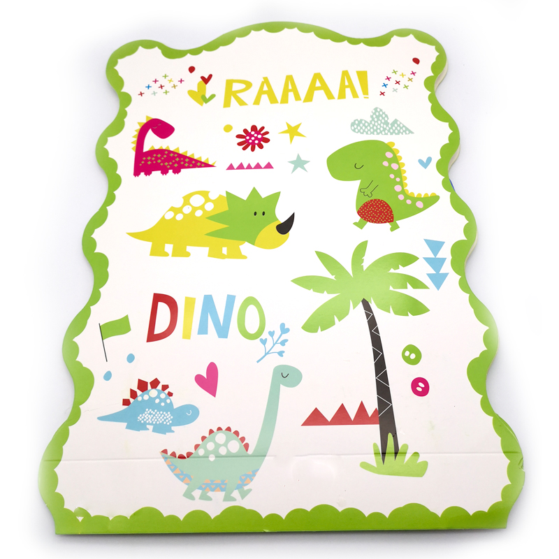 1pcs/lot Lovely Dinosaur Theme DIY Funny Pinata Happy Birthday Events Party Kids Boys Favors Baby Shower Paperboard Pinatas