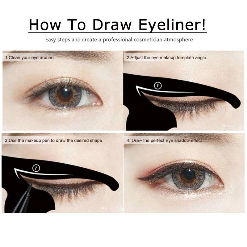 1 Set Cat Eyeliner Stencil Professional Makeup Eyebrow Stencil