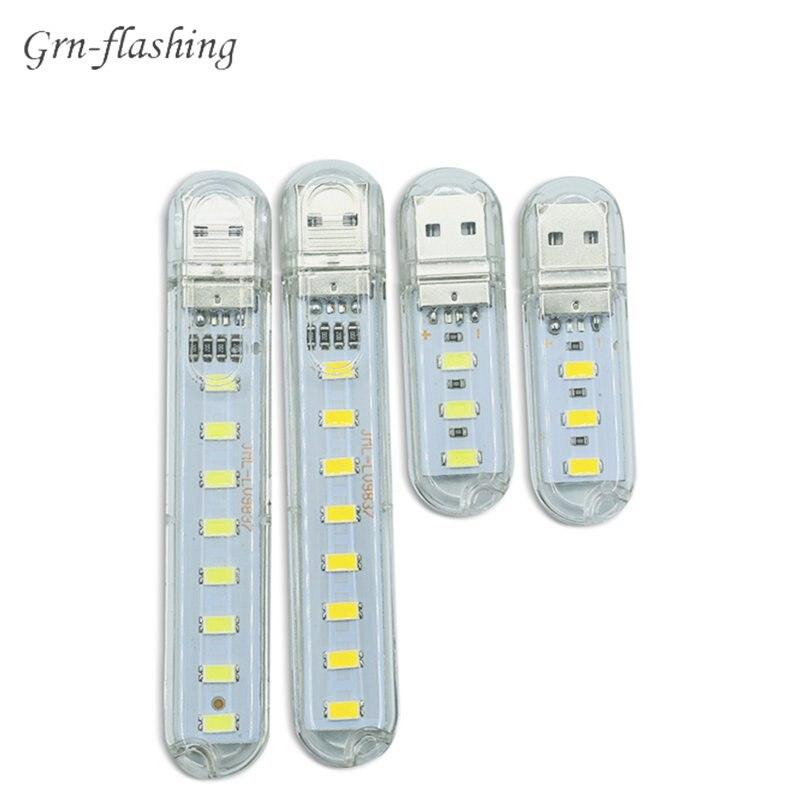 Мини Портативный USB LED свет 5V SMD5730 настольная лампа фонарик ночник для Power Bank PC ноутбук книга свет Пешие прогулки Кемпинг лампа