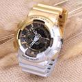 САНДА Мода Мужчины Женщины Люксовый Бренд Водонепроницаемые Часы Спорта Анти-сейсмических Кварцевые часы Dual Time Relogio Masculino Esportivo