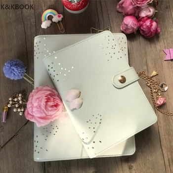 K&KBOOK 2017 New Genuine Leather cover Notebook A5 A6 Wave Point Mint Planner Kikki Stylish Agenda Book Stationery for Gift