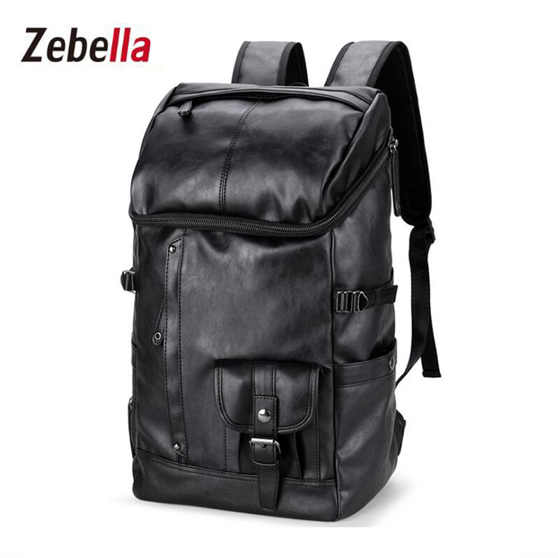 Zebella Travel High Quality PU Leather Men Backpack Big Capacity Waterproof Functional Male Backpacks School Teenager Men Bags zebella travel high quality pu leather men backpack big capacity waterproof functional male backpacks school teenager men bags