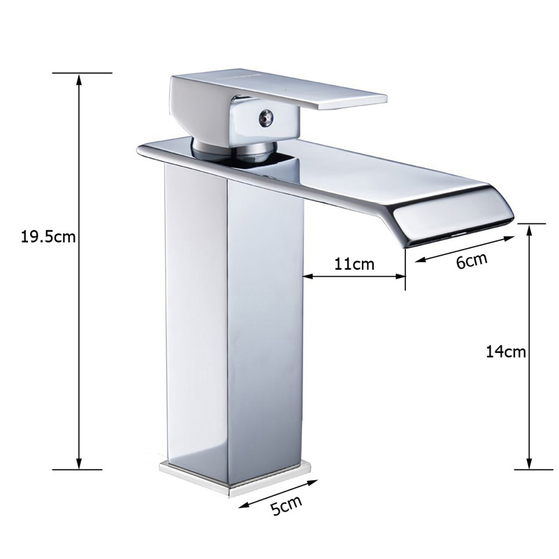 HTB1o08iXErrK1RkSne1q6ArVVXaX Wholesale And Retail Deck Mount Waterfall Bathroom Faucet Vanity Vessel Sinks Mixer Tap Cold And Hot Water Tap