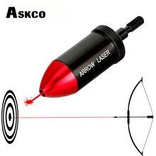 Askco Охота арбалет стрельба из лука Красная точка лазерный прицел комплект коллиматора лук стрелы BoreSighter