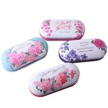Glasses Case Handmade Double Layer Box Chinese Style Printing Design Multi-purpose Contact Lens Beautify Cases