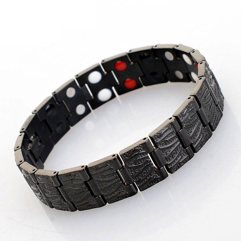 Bracelet Bio magnétique en forme de coeur en acier titane doré Rose pour femme 4 éléments Bracelet de thérapie